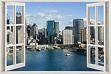 Adesivo per finestra Skyline View Decalcomania in