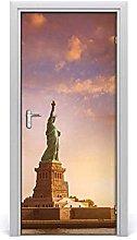 Adesivo Per Porta Murale3D Statue Of Liberty
