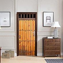 Adesivo per porte in PVC con venature del legno