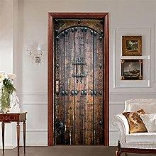 Adesivo per porte in PVC finto legno Adesivo per