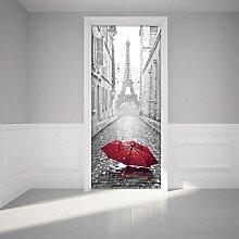 Adesivo per Porte| Stickers Tour Eiffel e Ombrello