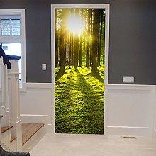 Adesivo Porta Adesivo 3D Fantasy Forest