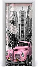 Adesivo Porta Autoadesiva Rosa Impermeabile Per
