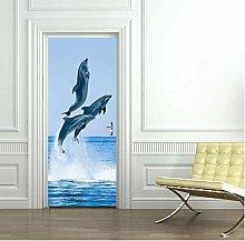 Adesivo Porta Delfino Autoadesivo Per Bambini