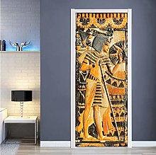 Adesivo Porta Faraone Egiziano Autoadesivo