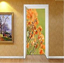 Adesivo Porta Fiore Autoadesivo Impermeabile Door