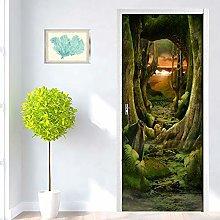 Adesivo Porta Foresta Di Paesaggi Naturali