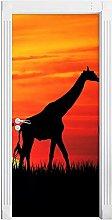 Adesivo Porta Giraffa Africana Autoadesiva