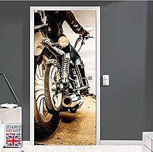 Adesivo Porta Moto 3D Autoadesivo Impermeabile