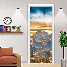 Adesivo Porta Paesaggio Desertico Autoadesivo 3D