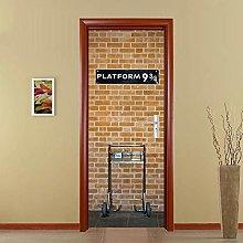 Adesivo Porta Piattaforma Creativa Autoadesiva