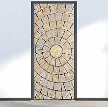 Adesivo Porta Pietra Rotonda Creativa Autoadesiva