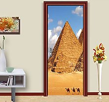 Adesivo Porta Piramide 3D Autoadesiva Paesaggio