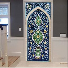 Adesivo Porta Ramadan Blu Creativo Autoadesivo