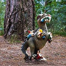 Adorabile statuetta in resina con dinosauro