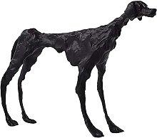 AERVEAL Scultura da Tavolo Black Hound Table