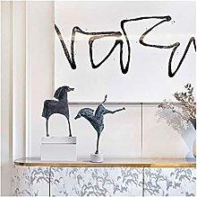 AERVEAL Scultura da Tavolo Figurina Di Cavallo da