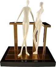 AERVEAL Scultura da Tavolo Moderna Statua in