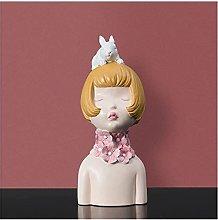 AERVEAL Scultura da Tavolo Ragazza Figurina Statua