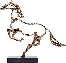 AERVEAL Scultura da Tavolo Statuetta Di Cavallo in