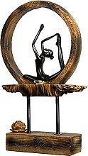 AERVEAL Scultura da Tavolo Statuetta Di Yoga in
