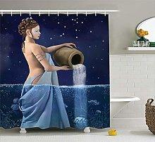 AFDSJJDK tenda bagno secchio in mare segni