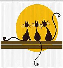 AFDSJJDK tenda cucina Animali tre gatti con baffi