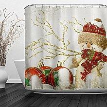 AFDSJJDK tenda da doccia Buon Natale Decorazioni