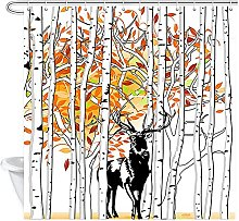 AFDSJJDK tenda finestra Cervo in autunno bosco di