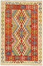 Afghan Kilim Afghanistan beige rosso cm.104x166