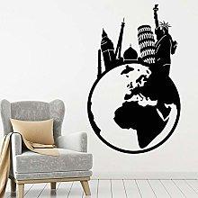 Agenzia Di Viaggi Adesivo Murale Travel World