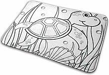 Ahdyr Sea Turtles Tappetino da bagno Zerbino