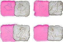 AIAIHU 4 Style Body Line Art Irregolare Coaster