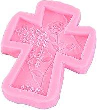 AIAIHU - Stampo per portachiavi a forma di croce,