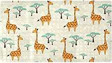 AIBILI - Tappetino da doccia con giraffa,