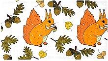 AIBILI - Tappetino per doccia con scoiattolo,
