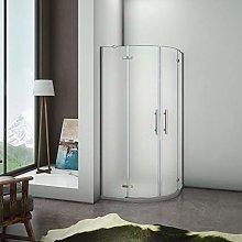 Aica box doccia 80x80x195cm semicircolare porta