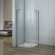 Aica box doccia semicircolare porta battente