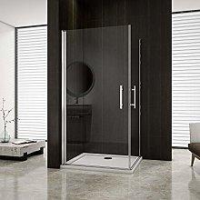 AICA ITALY Box doccia angolare trasparente