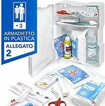 AIESI® Armadietto di pronto soccorso in plastica