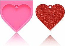 AIUII - Stampo in silicone a forma di cuore con