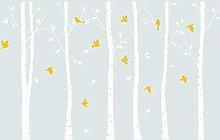 AIYANG Adesivo murale albero di betulla Adesivi