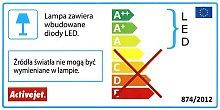 aje-mero 2 grigio ip44 illuminazione a parete