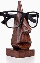Ajuny - Porta occhiali in legno intagliato a mano,