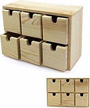 akestop® Cassettiera in Legno 14.5x7.7x21 Cm 6