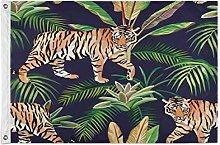 Alarge - Bandiera da giardino con foglie di palma