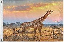 Alarge - Bandiera da giardino con giraffa