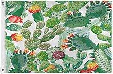 Alarge - Bandiera da giardino con motivo a cactus