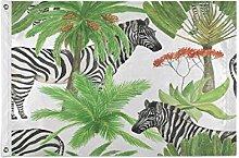 Alarge - Bandiera da giardino con palma tropicale,