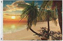 Alarge - Bandiera da giardino con palme oceaniche